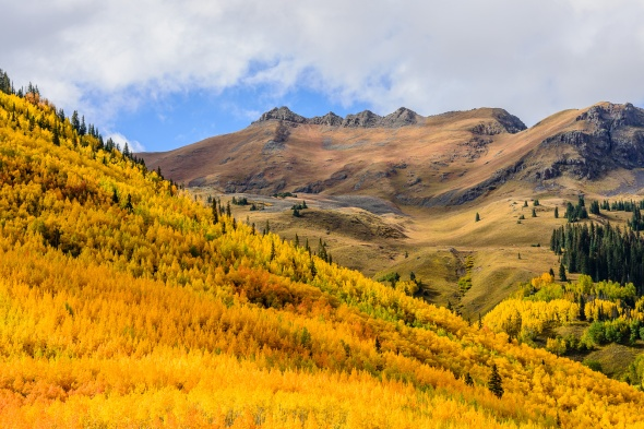 Red Mountain Pass in autumn color; CO